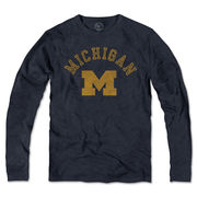 '47 Brand University of Michigan Navy Long Sleeve Scrum Tee