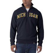 '47 Brand University of Michigan Navy 1/4 Zip Pullover Sweatshirt