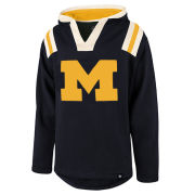 '47 Brand University of Michigan Navy ''Hail Mary'' Hooded Sweatshirt