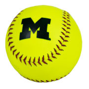 Baden University of Michigan Softball Neon Softball