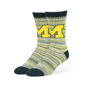 '47 Brand University of Michigan ''Leroy'' Sport Crew Length Socks