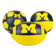Baden University of Michigan Soft Touch ''Mini Star'' 3-Pack Ball Set (Football, Basketball, Soccer)
