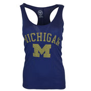 '47 Brand University of Michigan Ladies Navy Regatta Superstar Tank Top