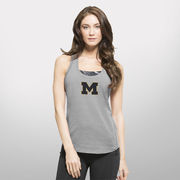 '47 Brand University of Michigan Ladies Gray Forward Shirt Performance Tank Top