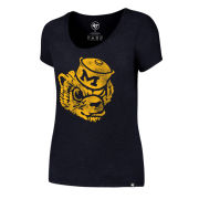 '47 Brand University of Michigan Women's Heather Navy College Vault Wolverine ''Knockaround Club'' Scoopneck Tee
