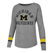 '47 Brand University of Michigan Women's Gray Long Sleeve ''Courtside'' Tee