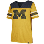 '47 Brand University of Michigan Women's Match Triblend Striped Sleeve Tee