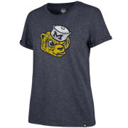 '47 Brand University of Michigan Women's Heather Navy College Vault Wolverine Tri-Blend Match Tee