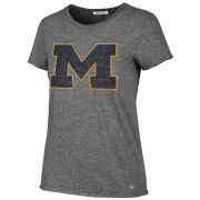 '47 Brand University of Michigan Women's Gray Fader Letter Tee