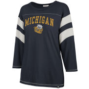 '47 Brand University of Michigan Women's Navy Long Sleeve College Vault Wolverine ''Luna Canyon'' Tee