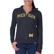 '47 Brand University of Michigan Ladies Pep Rally Full Zip Hooded Sweatshirt