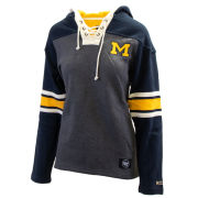 '47 Brand University of Michigan Hockey Women's Lace-Up Hooded Sweatshirt
