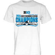 Blue84 University of Michigan Men's Swimming B1G Champs Locker Room Tee