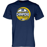Blue84 University of Michigan Women's Swimming and Diving Big Ten Champions Navy Locker Room Tee