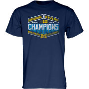 Blue84 University of Michigan Women's Swimming and Diving Big Ten Champions Navy Tee