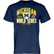 Blue84 University of Michigan Baseball College World Series Navy Tee
