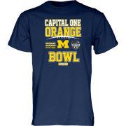 Blue84 University of Michigan Football Orange Bowl Navy Tee