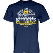 Blue84 University of Michigan Basketball Big Ten Tournament Champions Navy Locker Room Tee