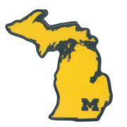 Blue84 University of Michigan State of Michigan Sticker