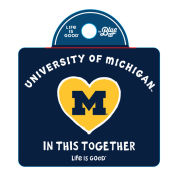 Life Is Good University of Michigan ''In This Together'' White Outline Decal