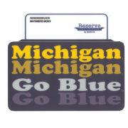 Blue84 University of Michigan ''FourEyez'' Michigan/ Go Blue Sticker