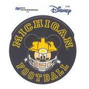 Blue84 x Disney University of Michigan Football Round Mickey Mouse with Helmet Sticker