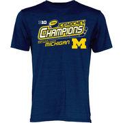 Blue84 University of Michigan Hockey Big Ten Tourney Champs Locker Room Tee