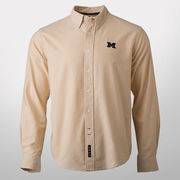 Vesi University of Michigan Beige Collegiate Fit Button Down Sport Shirt