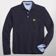 Brooks Brothers University of Michigan Navy Long Sleeve Polo