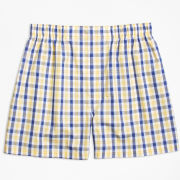 Brooks Brothers Navy/ Yellow/ White Plaid Traditional Fit Boxer Shorts