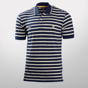 Brooks Brothers University of Michigan Slim Fit Navy Combo Striped Polo Shirt