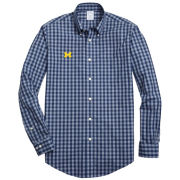 Brooks Brothers University of Michigan Tonal Heathered Gingham Sport Shirt