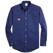 Brooks Brothers University of Michigan Solid Blue Sport Shirt