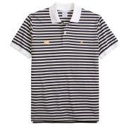 Brooks Brothers University of Michigan Oxford Stripe Slim Fit Polo