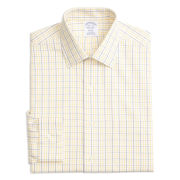 Brooks Brothers Tonal Check Windowpane Regent Fit Button-Down Dress Shirt