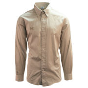 Brooks Brothers University of Michigan Regent Fit Oatmeal Long Sleeve Sport Shirt