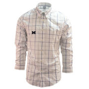 Brooks Brother's University of Michigan White Windowpane Regent Fit Sport Shirt