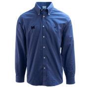 Brooks Brothers University of Michigan Heather Navy BrooksCool Regent Fit Sport Shirt