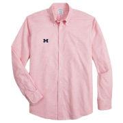 Brooks Brothers University of Michigan Pink Regent Fit Heathered Sport Shirt