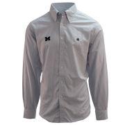 Brooks Brothers University of Michigan Oxford Stripe Regent Fit Long Sleeve Sport Shirt