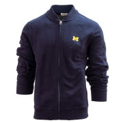 Brooks Brothers Red Fleece University of Michigan Navy Full Zip Fleece Bomber Sweatshirt