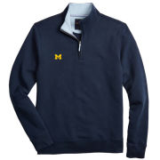 Brooks Brothers University of Michigan Navy French Terry 1/2 Zip Sweatshirt