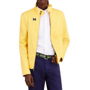 Brooks Brothers Red Fleece University of Michigan Yellow Cotton Bomber Jacket