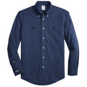 Brooks Brothers University of Michigan Heather Navy Regent Fit Sport Shirt