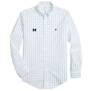 Brooks Brothers University of Michigan White Windowpane Regent Fit Sport Shirt