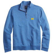 Brooks Brothers University of Michigan Blue French Terry 1/2 Zip Pullover Sweater