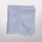 Brooks Brothers University of Michigan Navy Micro Check Pocket Square