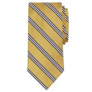 Brooks Brothers Gold/Navy/White Mini Stripes Rep #1 Tie