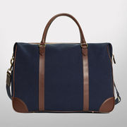 Brooks Brothers Navy Canvas with Leather Trim Duffle Bag