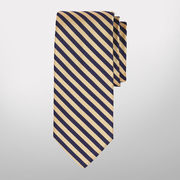 Brooks Brothers University of Michigan Navy/ Yellow Repp #5 Tie